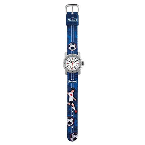 SCOUT Jungen Analog Quarz Uhr mit Stoff Armband 280376004