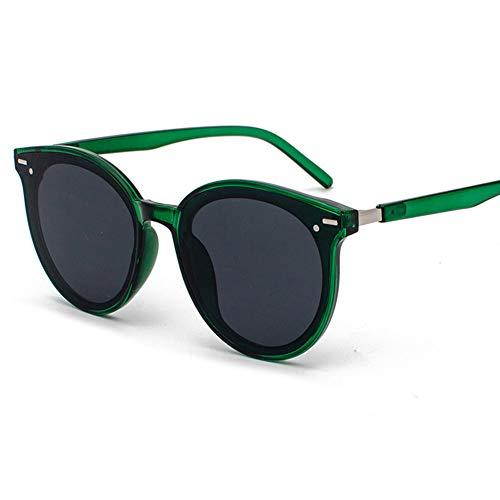 GJY Mode Reisnagel Sonnenbrille net roten großen Rahmen Retro Paar Street Beat Sonnenbrille,Green