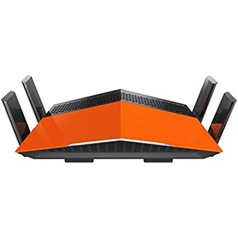 D-Link DIR-879 – Router WiFi AC 1900 EXO (Quad Band, 1900 Mbps, antenas amplificadas High Power, MIMO 3x4, 4 puertos Gigabit 10/100/1000 Mbps, 1 puerto WAN Gigabit, WPS, WPA2,