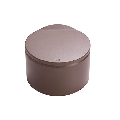 CNZXCO Kunststoff Presse-typ Mülleimer Flipping Deckel, Abfall Paper Basket Mülltonne Dual-Fach Müll-Container Runde-braun 19x12.6cm(7x5inch) - Mülltonne Dual