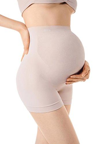 MD Umstandskleidung Unterwäsche für Schwangerschaft Shapewear Höschen mit Bauch-Unterstützung Mitte Oberschenkel Pettipant NudeL