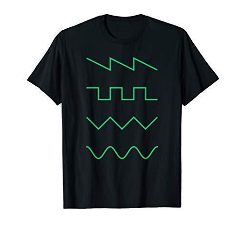 Synth Waveform   Digital Analog Synthesizer EDM  T-Shirt