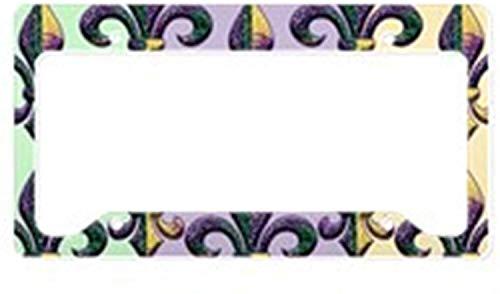 e Lis Mardi Gras Perlen Kennzeichenhalter Aluminium Kennzeichenhalter Auto Zubehör 15,2 x 30,5 cm ()