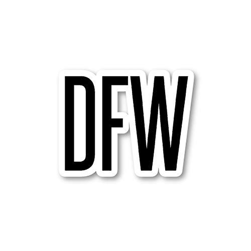 DFW Dallas Aufkleber Airport Codes - Laptop-Sticker - Vinyl-Aufkleber - Laptop, Handy, Tablet Vinyl-Aufkleber S12166