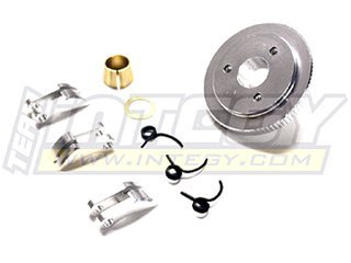 Integy Hobby RC Model T3215SILVER 3-Piece Type 7075 Clutch Conversion for Traxxas 1/10 Revo 3.3 & Slayer(both)