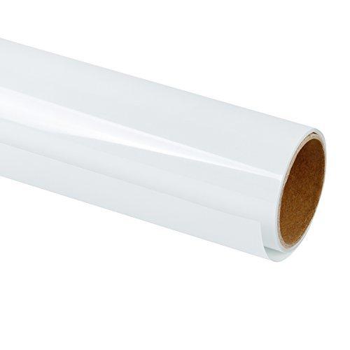 RUSPEPA 30.48Cm Vinile A Trasferimento Termico per Magliette Fai-da-Te, Stampa A Caldo per Indumento Artigianale - Rotolo da 92 Cm (Bianco)