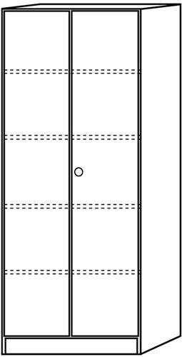 Ahorn Türen (Regal m.Türen 6100 Ahorn/silb.)