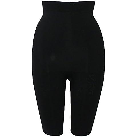 Sveltesse - Pantaloni dimagranti tripla azione, effetto buccia di pesca, nero