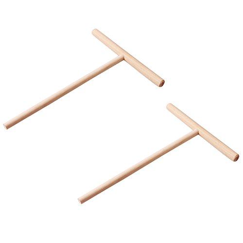 GEZICHTA 2T-Förmige Holz Crepe Maker Pancake Teigverteiler Teig Verteiler Rechen -