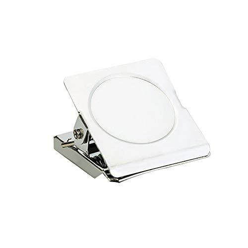 31MM Kühlschrank Magnetische Edelstahl-Clips quadratisches Metall Memo-Clip für Fotoanzeige, Weiße Tafel, Wand 12 PCS