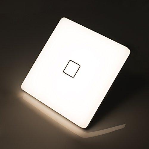 Öuesen 24W LED Deckenleuchte ersetzt 150W Glühbirne Naturweiß 4000K led Deckenlampe IP44 Wasserfest LED Feuchtraumlampe 2050lm 180°Abstrahlwinkel ideal für Badezimmer Balkon Flur Bad Küche Wohnzimmer [Energieklasse A++][Energieklasse A++]