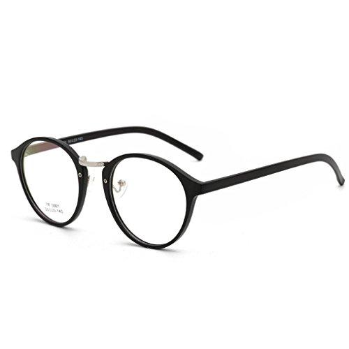 QHGstore Ovale degli occhiali Uomo Donna rotonda vetro Plain completa-Rim Occhiali Occhiali (Vetro Occhiali)