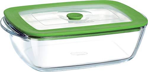 Pyrex 4in1 Plus - Pirofila rettangolare 23 x 15 cm + coperchio con valvola sfiata vapore ideale per il microonde