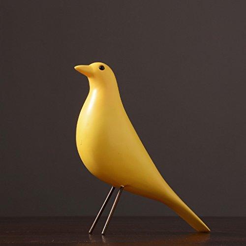 GAODUZI Décoration moderne Sculpture Home Office Décorations Fournir Creative Noir et Blanc Oiseaux Résine Artisanat Ornements (Couleur : F)