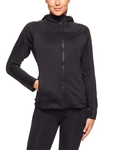 adidas Damen Trace Rocker Hooded Fleece Kapuzen-Sweatshirt, Black, 36 - Polyester-rocker