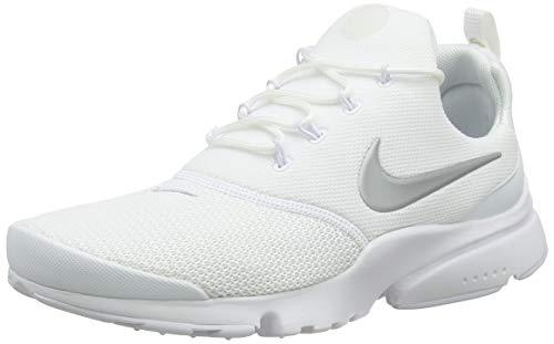 Nike Damen Presto Fly Laufschuhe, Weiß (White/Metallic Silver 107), 36.5 EU