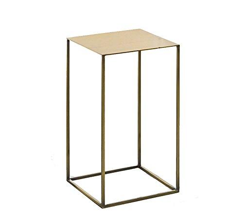 Full Love House Table d'appoint, Table d'appoint Métallique Peinture Loft design industriel Mutifunction Étagère Porte-fleur Noir Or 30 * 30 * 54cm 34 * 34 * 74cm ( Couleur : Or , taille : 30*30*54cm )