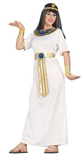 Fancy Me Damen Sexy Königin Kleopatra historisch ägyptisch Kostüm Kleid Outfit 14-16-18 - Weiß, ()