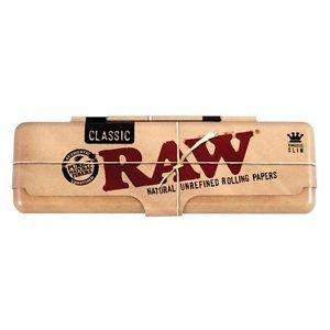Raw-Cartine per sigarette Rizla canapa e organica King Size Slim in scatola di latta, venduto Trendz