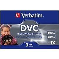 Verbatim 47651 Digitale Videokassette 60 Min - MiniDV - 3er Pack