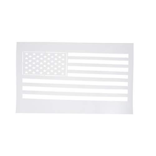 Supvox 1pc template stencil in plastica grandi bandiere americane stencil wall paintingplate per pittura su legno tessuto aerografo