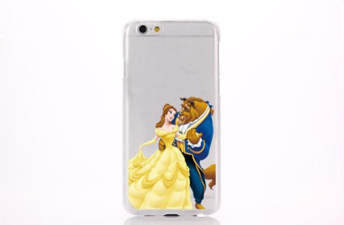 FASHIONFORT Coque transparente pour iPhone4/4s/5c/6/6+ Motif Disney , plastique, Beauty & Beast, iPhone 5/5S