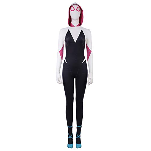 Kostüm Mann Custom Spider - QWEASZER Into The Spider-Verse Cosplay Gwen Stacy Frauen Gwen Spider-Man Kostüm Halloween Bühnenkleidung Movie Game Rollenspiele Bodysuit Overalls,Spiderman-Custom Size