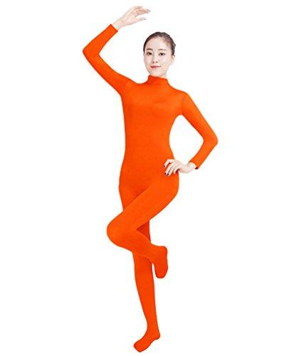 NiSeng Erwachsener und Kind Ganzkörperanzug Anzug Kostüm Ganzkörperanzug Halloween Kostüme Fluoreszierende Orange M