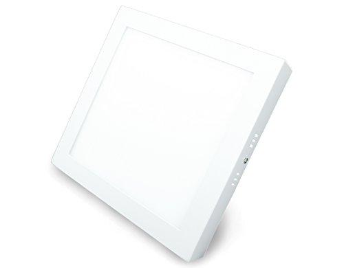 LED Panel, Quadratisch mit 18W Leistung, Aufbau-Montage, Warmweiß, 22,5cm - Typ: ECONOMY AR18225WWS