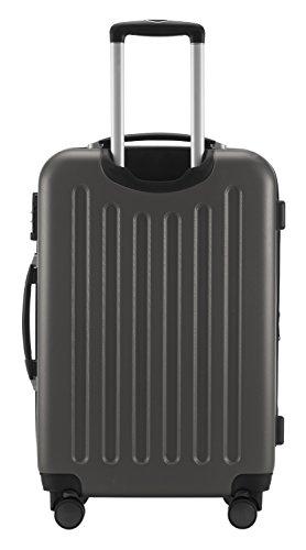 HAUPTSTADTKOFFER® Hartschalen Koffer SPREE 1203 · SET · MATT · TSA Zahlenschloss · + GEPÄCKGURT (Burgund) Graphit