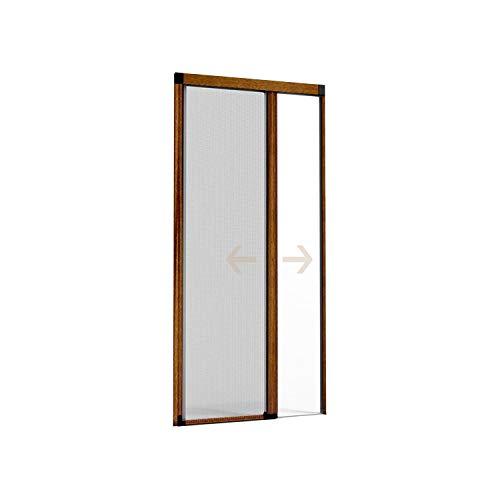 Zanzariera a Rullo in Alluminio per Porte e Balconi con Profilo Regolabile avvolgimento orizzontale 140x230 cm PREMIUM (Marrone)