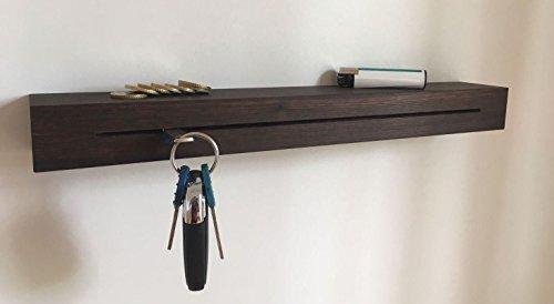 Forbidden Designs - T6 Schlüsselbrett Räuchereiche geölt mit Schlüsselfräsung und Ablagefach Wandbrett