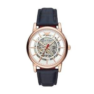 Emporio Armani AR60009 – Reloj Analógico para Hombre, Automático con Correa en Cuero