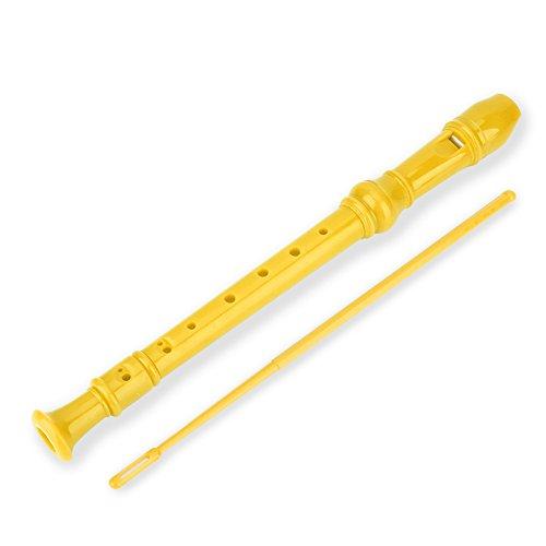 Tbest Blockflöte Sopran Recorder Flöte ABS Instrumente Reed Rohr Kinder Kinder Studenten(Gelb)