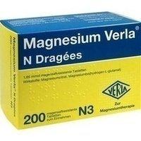 Magnesium Verla N, 200 St. Dragees