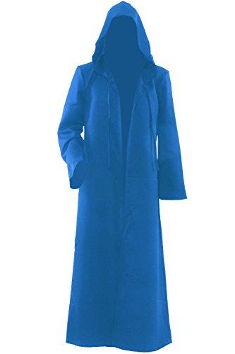 Herren Kapuzen Robe Umhang Ritter Fancy Cosplay (Robe Kostüm Blaue)
