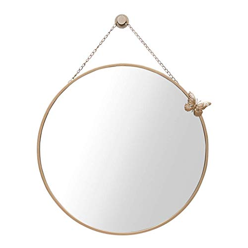Große moderne runde Wandspiegel Metallrahmen dekorative hängenden Spiegel für Badezimme