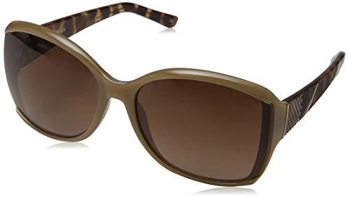 Karen Millen Damen Sonnenbrille KM Collection, Braun (Brown), 55.0