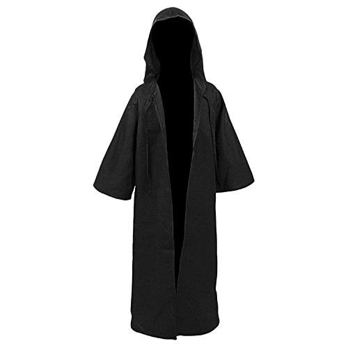 Deluxe Jedi Ritter Kinder Kostüm - Amayar Herren Kapuzen Robe Umhang Ritter