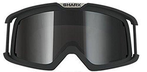 Shark Brille schwarz mit getöntem Glas für RAW Drak Vancore + Explore-R Helme