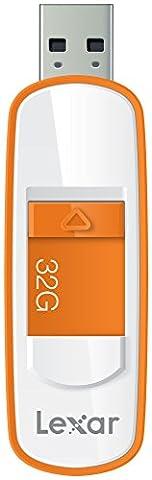 Lexar S75 32GB USB 3.0 JumpDrive - LJDS75-32GABEU - Orange