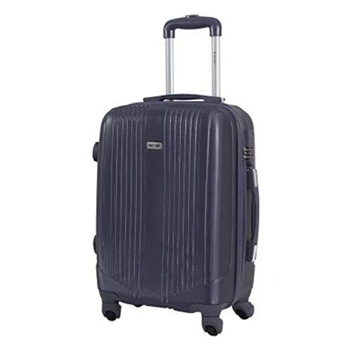 Valigia formato cabina -trolley alistair airo - abs ultra leggero - 4 ruote (nero grigio)