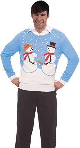 Naughty Herren Kostüm - Fancy Me Damen Herren unhöfliche Neuheit Naughty Christmas Pullover festlich lustig Comedy Büro Party Kostüm Outfit Top