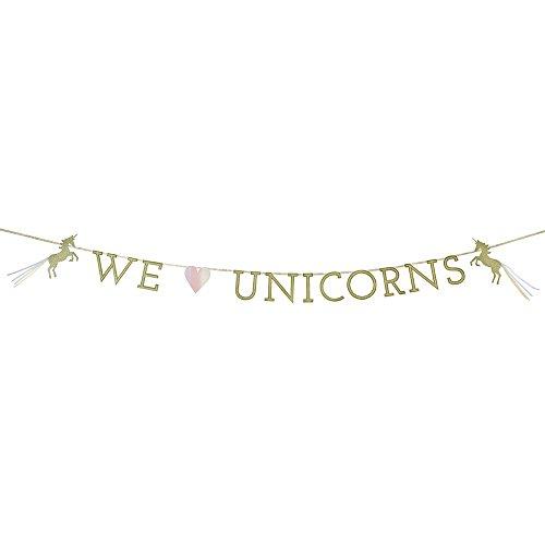 Talking Tables We Heart Unicorns; Papiertransparentdekoration with Glitzerdetail für Einhorn- und Kindergeburtstagspartys (Ideen Für Partei-bevorzugungen)