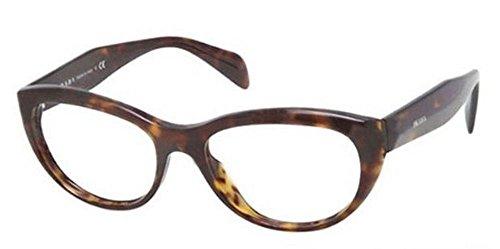 Prada Montures de lunettes 01Q Pour Femme Black, 52mm 2AU-1O1: Tortoise