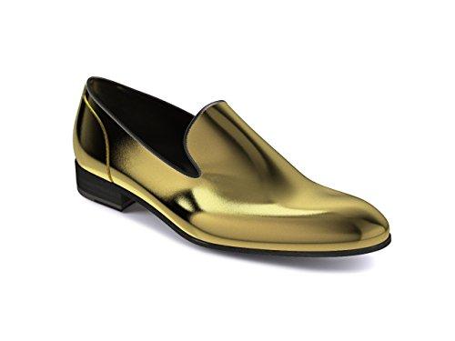 Chaussures Sur Mesure - Enfiler - Homme Or brillant