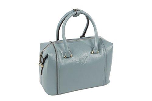 MJ Bags Modell Janine Damen Handtasche Blau Marken Handtaschen Elegant Taschen Reissverschluss Frauen Handtaschen Schultertasche Umhängetasche