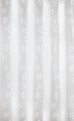 Kleine Wolke 4997114305 Duschvorhang Viva, 180 x 200 cm, schneeweiß