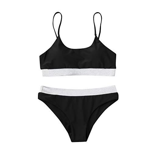 CICIYONER Damen Bikini Set Frauen Solide Schwimmen Zweiteiler Badeanzüge Bademode Strand Anzüge S-XXL