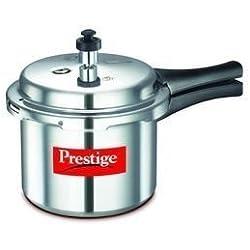 Prestige Popular Plus Induction Base Aluminium Pressure Cooker, 5 Litres, Silver